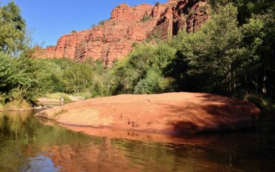 Spectacular Red Rock Crossing offers cool respite from heat