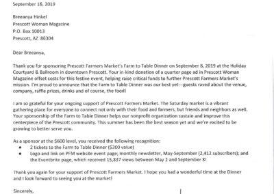 Prescott Farmers Market Farm to Table
